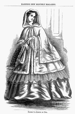 Ball Gown Photograph - Womens Fashion. C1850s by Granger