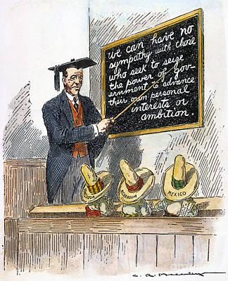 Woodrow Wilson Cartoon Art Print