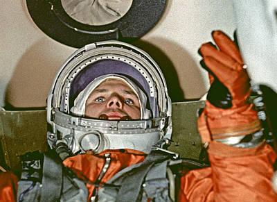 Yuri Gagarin Photograph - Yuri Gagarin by Ria Novosti