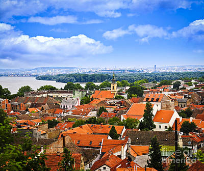 Zemun Rooftops In Belgrade Art Print by Elena Elisseeva