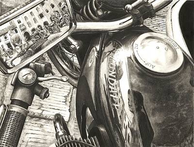 Drawing - Zundapp K800 by Norman Bean