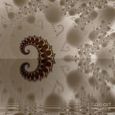 Fractal Reflection Art Print by Odon Czintos