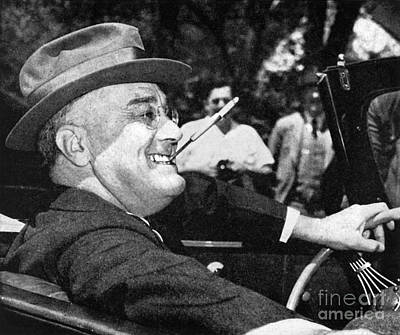 Photograph - Franklin Delano Roosevelt by Granger