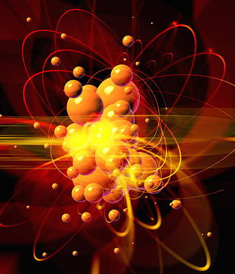 Subatomic Particles Abstract Art Print by Mehau Kulyk