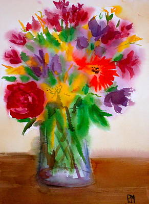 Daiseys Painting - 20 Year Bouquet by Pete Maier