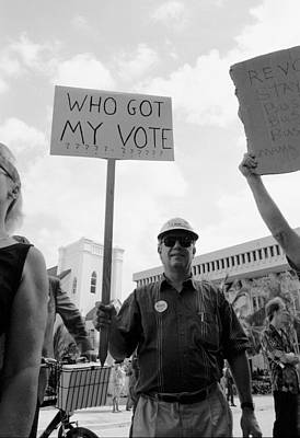 Election Photograph - 2000 Presidential Election Who Got My Vote by Michael Dubiner