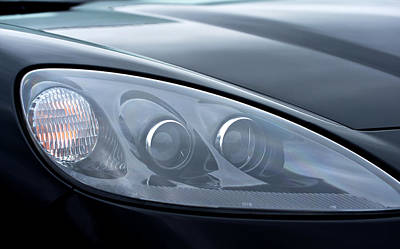 Photograph - 2002 Chevrolet Corvette Head Light by Glenn Gordon
