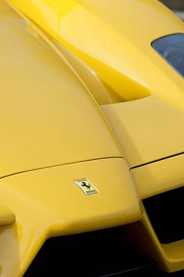Photograph - 2003 Ferrari Enzo Hood Emblem 4 by Jill Reger