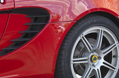 Photograph - 2005 Lotus Elise Wheel Emblem 4 by Jill Reger
