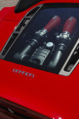 Photograph - 2007 Ferrari F430 Spider F1 Engine by Jill Reger