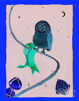 Painting - 2008 Owl Negative by Lilibeth Andre