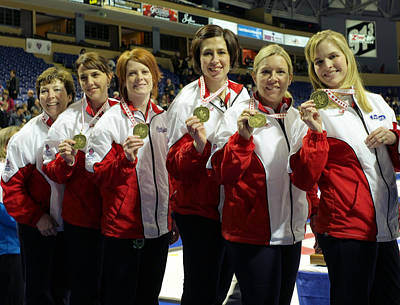 2009 Scotties Gold Medal Winners Original by Lawrence Christopher
