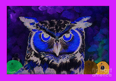Painting - 2011 Dreamy Horned Owl Negative by Lilibeth Andre