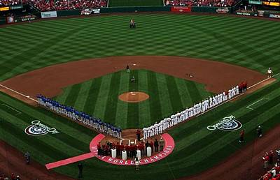 Photograph - 2012 Cardinals Opening Day by Barbara Plattenburg