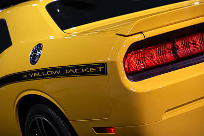 Challenger Digital Art - 2012 Dodge Challenger Srt8 392 Yellow Jacket by Gordon Dean II