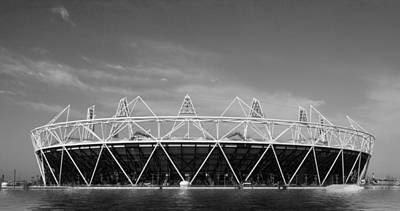 2012 Olympic Stadium Bw Art Print by David French
