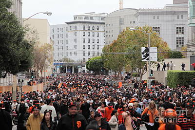 2012 World Series Champions Photograph - 2012 San Francisco Giants World Series Champions Parade Crowd - Dpp0001 by Wingsdomain Art and Photography