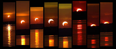 Photograph - 2012 Solar Eclipse by Elizabeth Hart