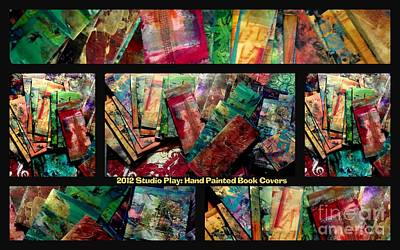 Mixed Media - 2012 Studio Play - Hand Painted Book Covers by Angela L Walker