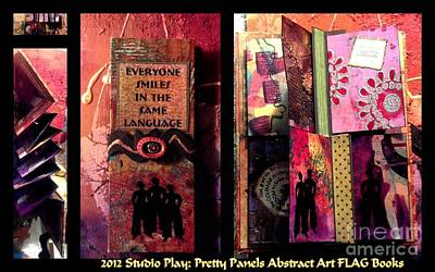 Mixed Media - 2012 Studio Play - Pretty Panels Abstract Art Books by Angela L Walker