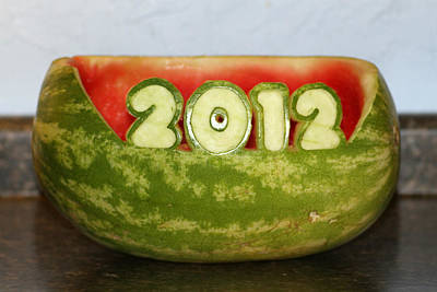 Photograph - 2012 Watermelon Carving by Mark J Seefeldt