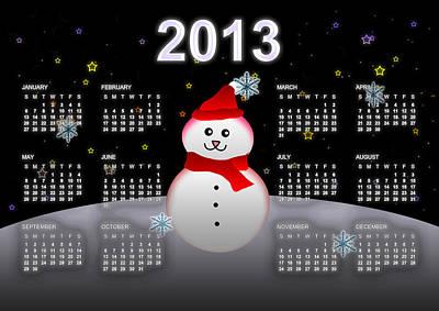 2013 Calendar Art Print by Martin Marinov