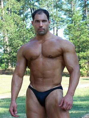 Bodybuilder Photograph - Male Muscle Art by Jake Hartz