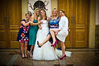 Photograph - Tim And Finn Wedding 2012 by Chris Boulton