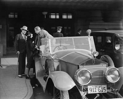 Spats Photograph - Silent Film: Automobiles by Granger