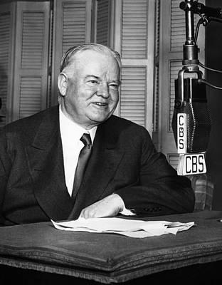 C.b. Radio Photograph - Former President Herbert Hoover by Everett