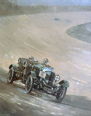 Car Racer Painting - 24 Hour Race At Brookland by Peter Miller