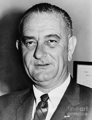 Lyndon Photograph - Lyndon Baines Johnson by Granger