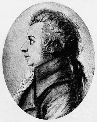 Amadeus Photograph - Wolfgang Amadeus Mozart by Granger