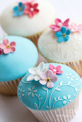 Silver Turquoise Photograph - Wedding Cupcakes by Ruth Black