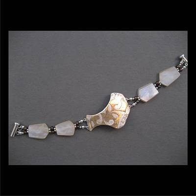 Jewelry - 255 Mother Of Pearl Lace by Brenda Berdnik