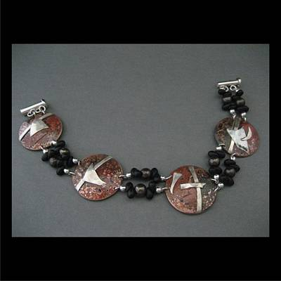 Jewelry - 266 Copper Fused With Silver by Brenda Berdnik