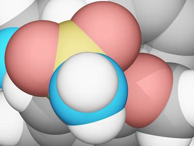 Molecular Structure Digital Art - Molecular Model by Laguna Design