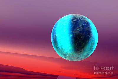 Pink Black Tree Rainbow Digital Art - Planet by Odon Czintos