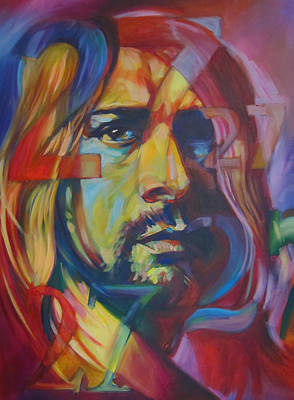 Kurt Cobain Painting - 27 by Steve Hunter