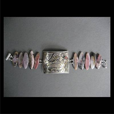 Jewelry - 279 Sea Of Pink Cuff by Brenda Berdnik