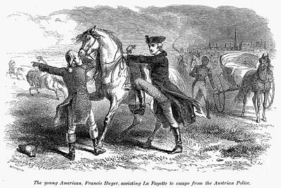 Marquis De Lafayette Art Print by Granger