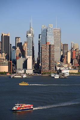 New York City Skyline Art Print by Frank Romeo