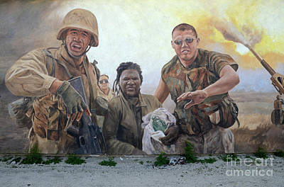 29 Palms Mural 2 Art Print by Bob Christopher
