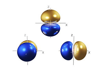 2p Electron Orbitals Art Print by Dr Mark J. Winter