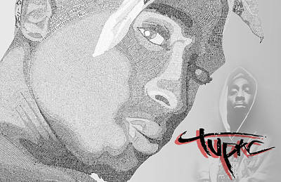2pac Text Picture Art Print by Aaron Parrill