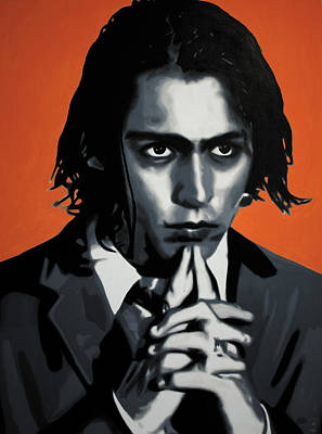 Johnny Depp Painting - - Johnny - by Luis Ludzska