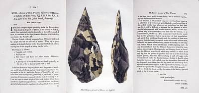 Biface Photograph - 1797 First Handaxe John Frere Of Hoxne 1 by Paul D Stewart