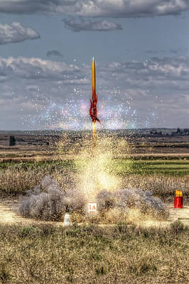 Photograph - 3 2 1 Launch by Brad Granger