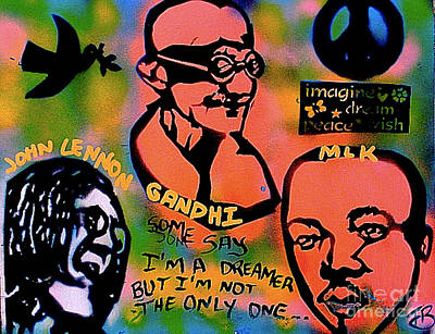 Dr. Martin Luther King Jr Painting - 3 4 Peace by Tony B Conscious