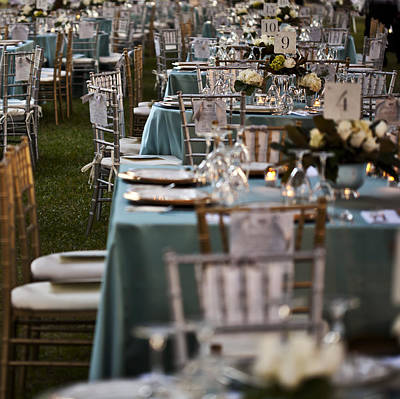 Tableware Photograph - A Formal Party. Small Tables Laid by Dan Kaufman